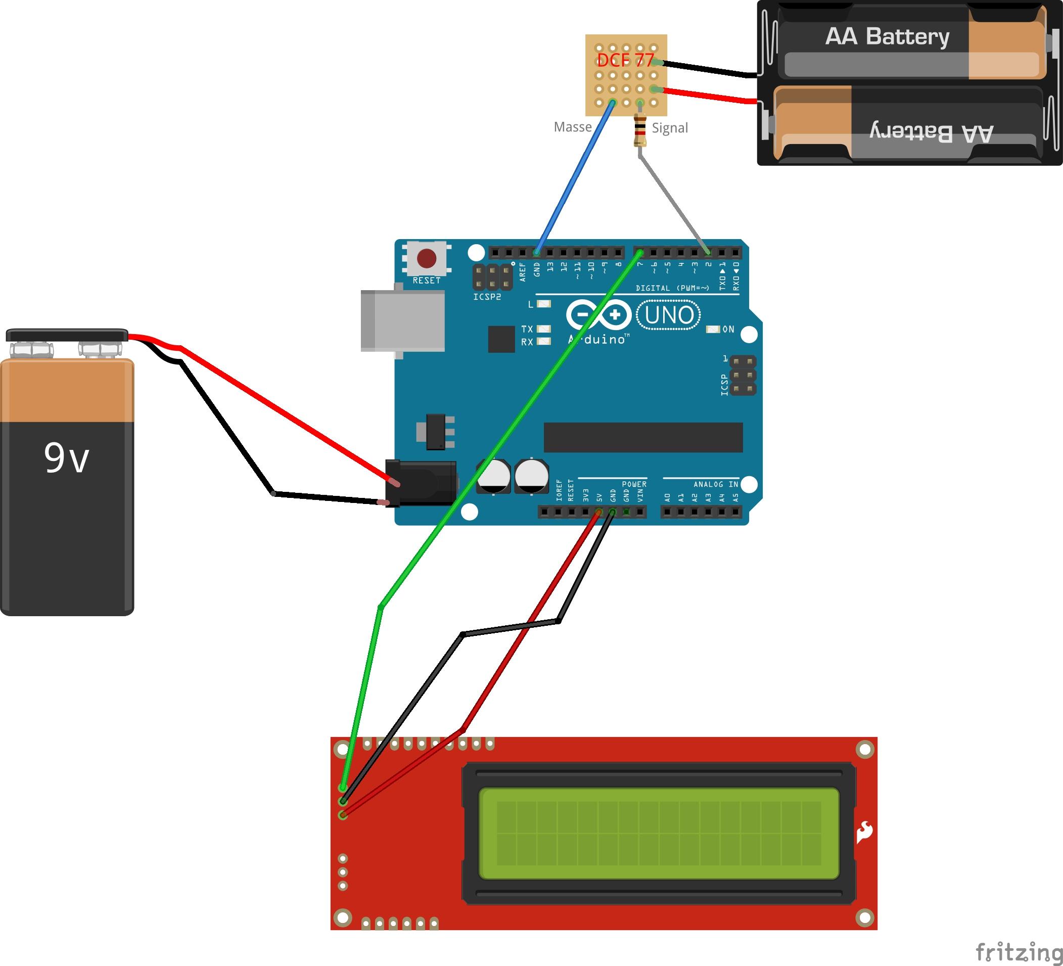 DCF77-Signale dekodieren (Anzeige auf LCD)