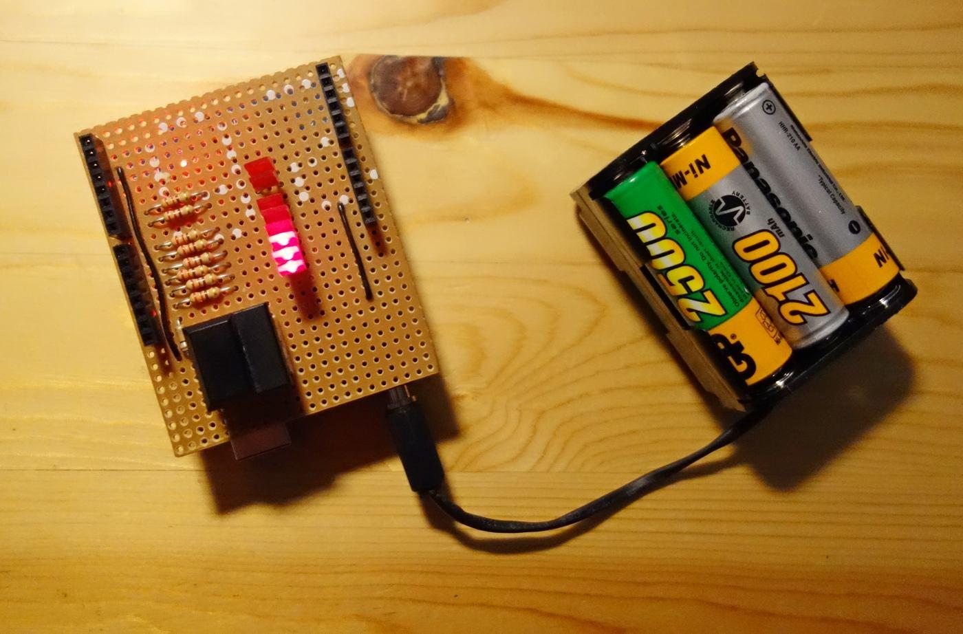 Stromversorgung für den Arduino