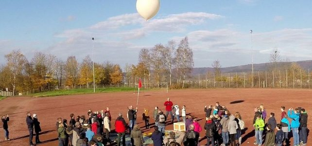 Ballonflug gestartet