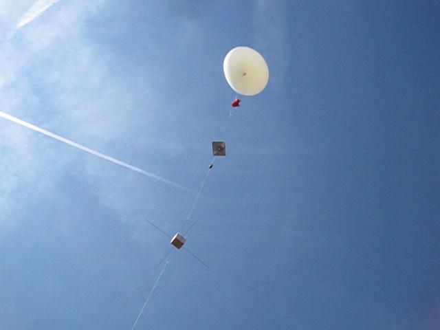 Berechnungen zum Aufstieg des Wetterballons